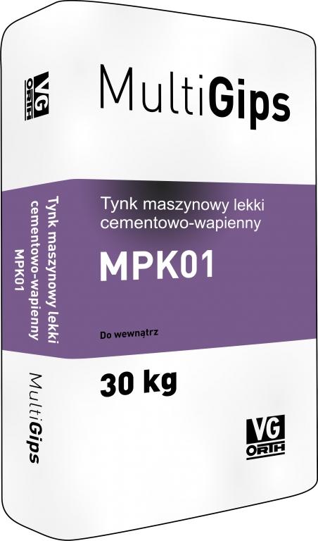 Tynk maszynowy lekki cementowo-wapienny MPK01